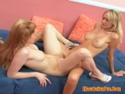 Lesbians licking pussy with passion