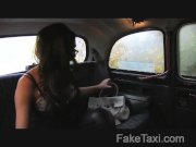 FakeTaxi - Busty tits and blowjob lips