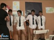 twink students team up to blow their teacher