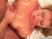 Horny grandma gets her pussy fisted