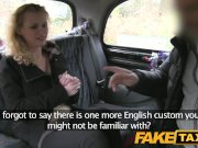 FakeTaxi Hot blonde tourist does xmas anal