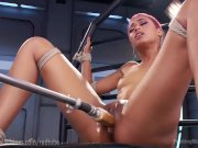 Skin Diamond Squirt Using Sex Machine