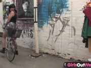 Girls Out West - Hairy trashy lesbian babes