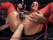 Lesbian Redhead MILF Anal Masturbation