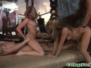 College party teen in group pussyfucked