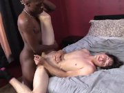 Caleb Andrews Enjoys His First Black Cock
