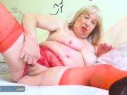 EuropeMaturE Blonde Ladies Solo Sex Toys Fun