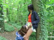 Abby Takes Caroline on a Sexy Adventure In the Forest