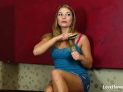 Interracial lesbian lovemaking with two hot girls