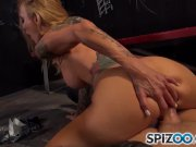 Spizoo - Sarah Jessie is fucked by a monster cock in the jail, huge tits