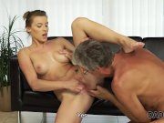 DADDY4K. Nice sex of dad and young girl ends with cumshot in mouth