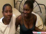 Two Black Lesbian Having Sensual Oral Session