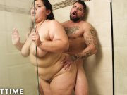 Horny BBW Karla Lane Has Steamy Shower Sex With Lover