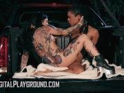 Ebony teen Kira Noirgets licked by Alt babe Joanna - Digital Playground