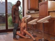 Black4K. Shanie Ryan can't get home and finally can hug her black BF