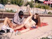 LETSDOEIT - Skinny Hot Teen Kira Parvati Gets Facialized In Public