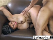 Busty Latina MILF gets a hot interracial fucking