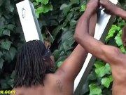 bbw african outdoor bdsm lesson