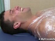 Aldo immobilized to have his soles tickled by an older gay