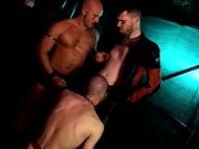 Group banging and sucking mixed with piss for jock slaves