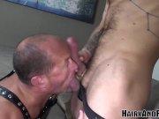 HAIRYANDRAW Josh Blaze Bends Over For Rimjob Before Bareback