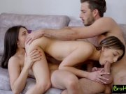 Stepsisters BFF Enjoys Her First Threesome with Stepbro S9:E7