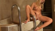 Jewish girl sex video bathroom - Blond sweetie getting hot in bathroom