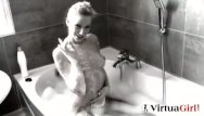 Danielle maye nude Sexy babe enjoys her bath