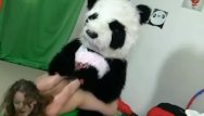 Gould a pandas thumb Strapon fun after working out