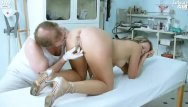 Medical chair anal exam Candie visiting her gyno doctor for pussy exam