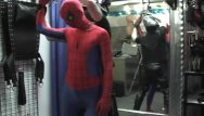 Gay spiderman flash - Twink spiderman molested by biker