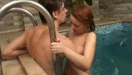 Free streaming gang bang - Couple bangs in a pool