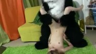 Cute and sexy girl Cute girl plays with sexy toys and bear