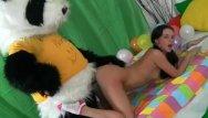 Presenter having sex Hot sex as a present for panda