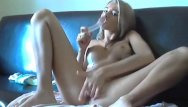Her pussy was wet Blonde getting her pussy wet