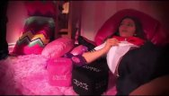 Pink and black teen room theams Surreal pink room with a surreal school girl