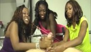 Shemale domination orgy Three ebonies domination