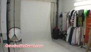 Teen scene dresses Backstage photoshoot in hot latex dress