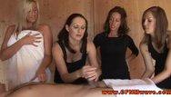 Cfnm femdom club Sexy femdom tugging in front of voyeurs