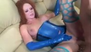 Shemales in latex free video Redhead fucking in stockings and latex