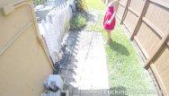 Backyard handjobs Bj on a ride and backyard fuck
