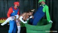 Mario dick Mario and luigi parody double stuf - brazzers