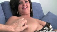 Mature woman stripping - Mom with big tits gets fingered