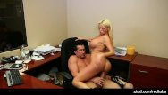 First sexual exposure - Nikita von james office exposure