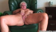Mature tit full vids - Full figured granny gives old pussy a workout