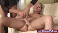 Lesbian puffies Pierced puffy peach babe with lucky toy
