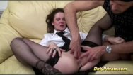 Secretary gets her tits rubbed - Nympho a gets cock in her asshole