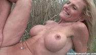 Hairstyle for senior older mature men - Senior lady with big tits gets fucked outdoor