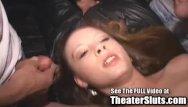 Bukkake tube porn - Hot teen twat bukkake in porn theater