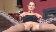 Sex legs stockings Long legged russian blonde masturbating
